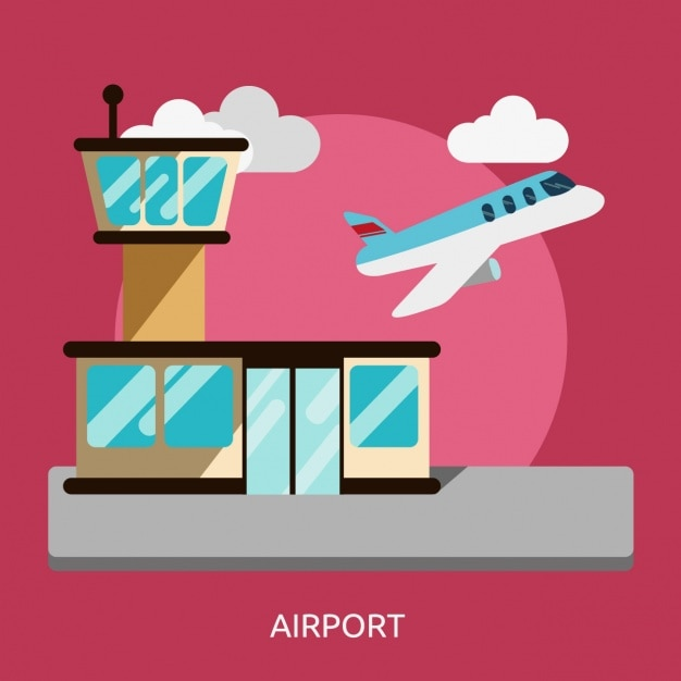 Airport background design Free Vector