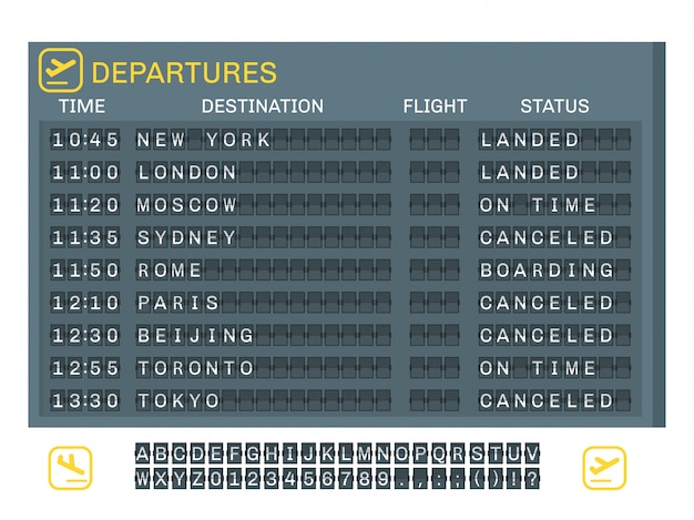 Airport board concept Free Vector