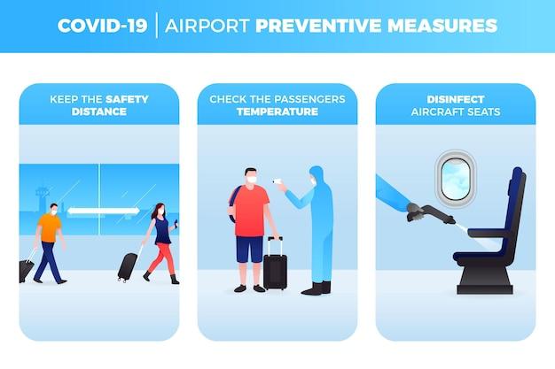 空港予防策のコンセプト 無料ベクター