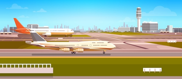 Airport terminal Premium Vector
