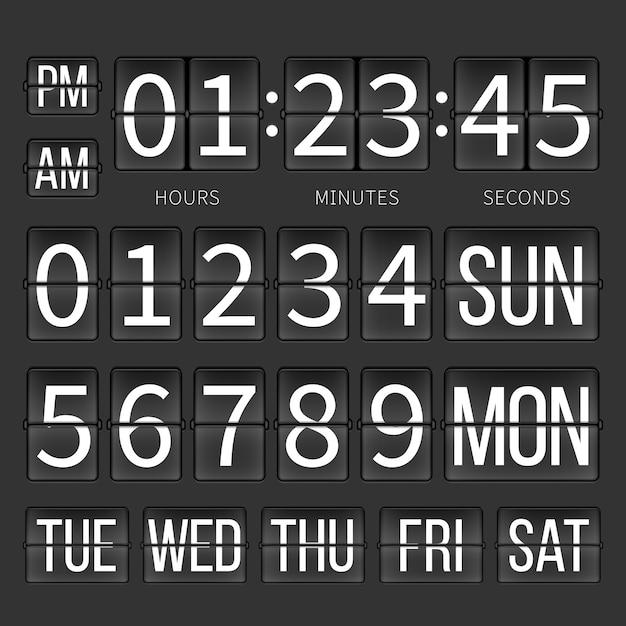 Airport timer counter Premium Vector