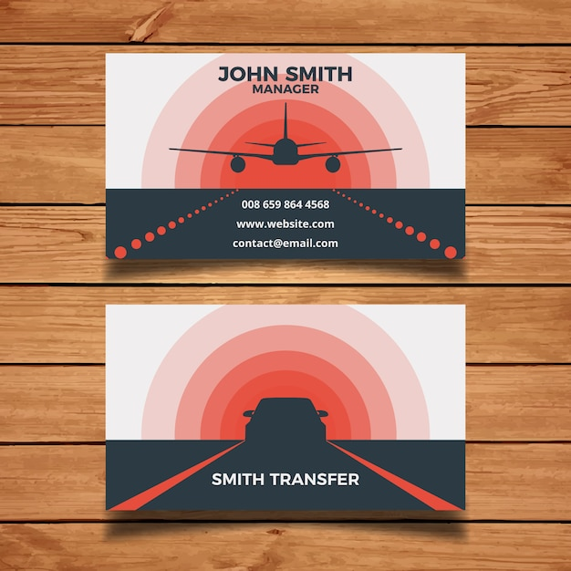 Airport transfer business card vector free download airport transfer business card free vector reheart Gallery
