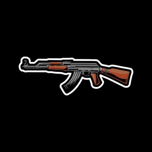 Иллюстрация оружия ак-47 Premium векторы