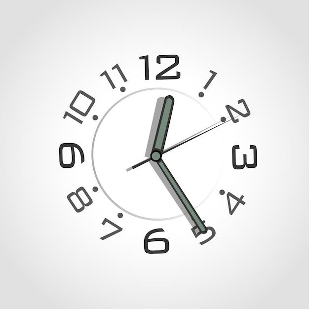 Alarm black silver number background Free Vector