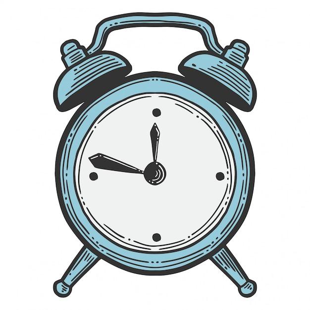 Alarm clock, analog watches. Premium Vector