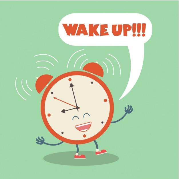 Alarm clock background Free Vector
