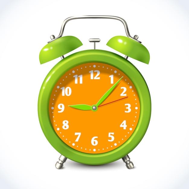 Alarm clock color illustration Premium Vector