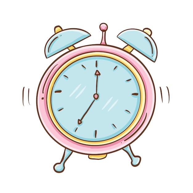 Alarm clock ringing Free Vector