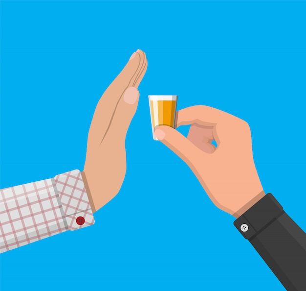 Alcohol abuse concept Premium Vector