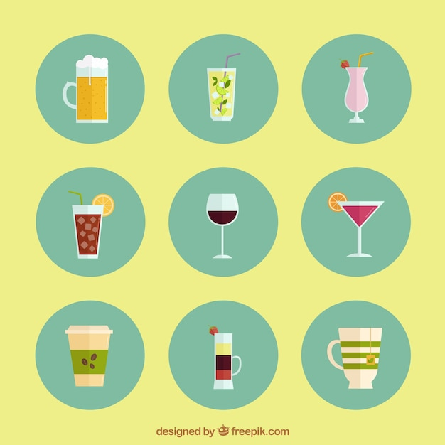 Alcohol Drink Icons 800142