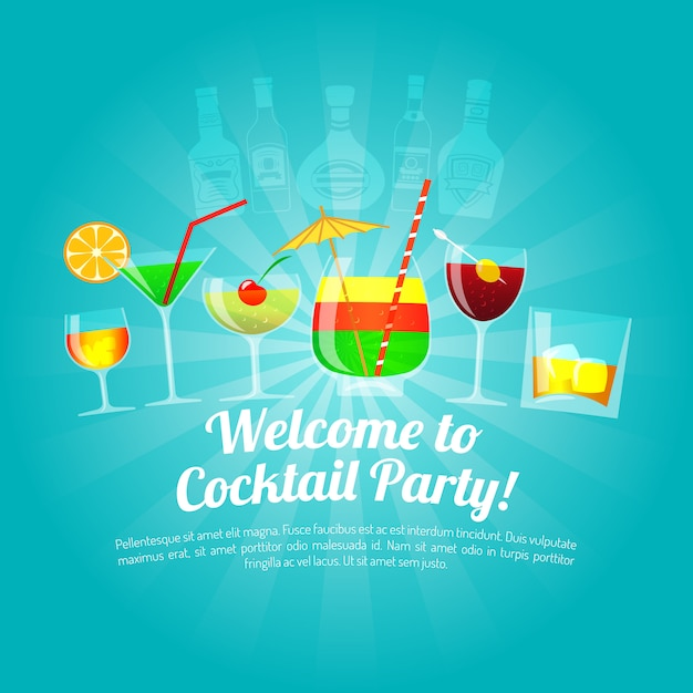 Alcohol flat illustration Free Vector