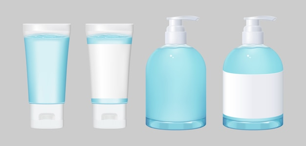 Alcohol gel  to put your brand Premium Vector