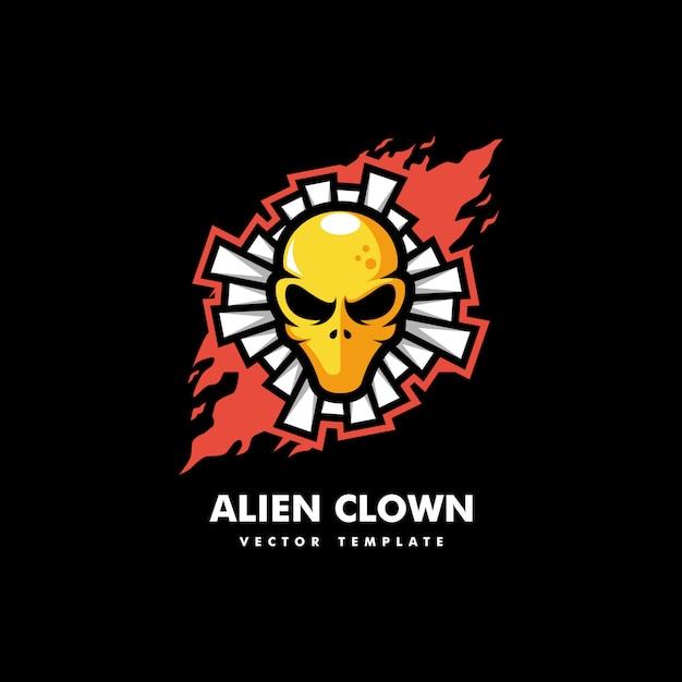 Alien clown concept illustration vector template Premium Vector