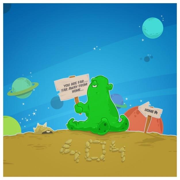Alien Error 404 Page