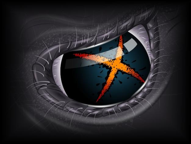 Alien eye Premium Vector