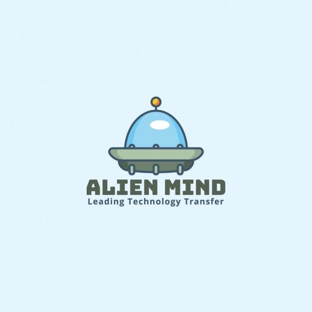 Alien logo on a blue background