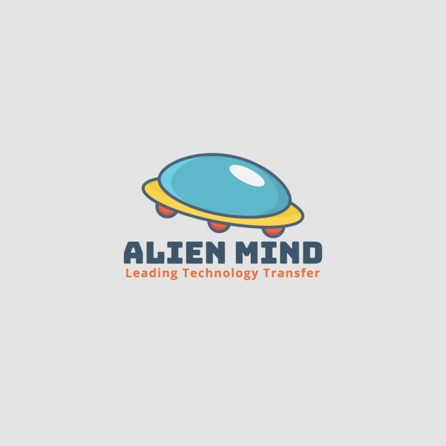 Alien logo, spaceship