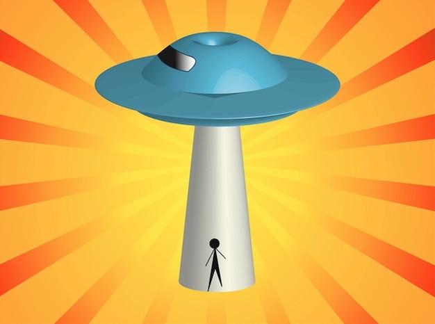 Alien space invasion vector pack