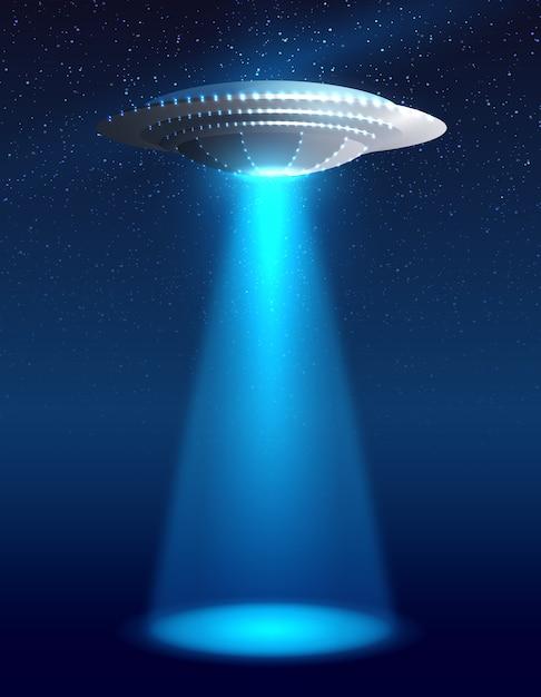 Alien spaceship illustration Free Vector
