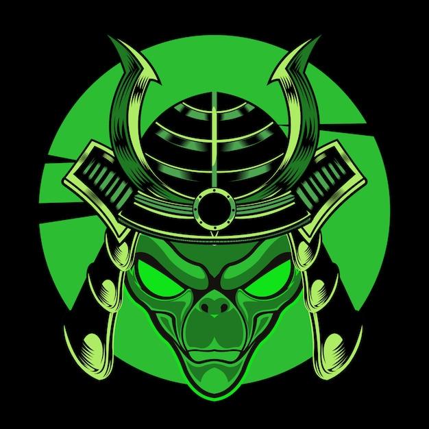 Alien warrior illustration Premium Vector