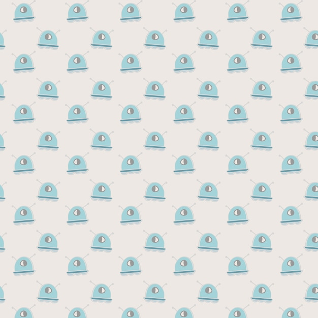 Aliens pattern background