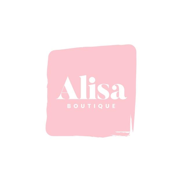 Alisa boutique logo branding vettoriale Vettore gratuito