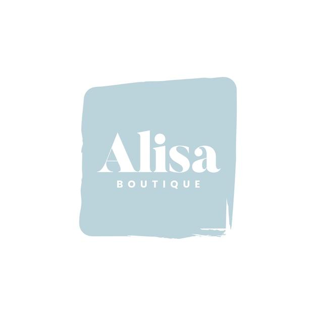 Alisaのブティックロゴブランドベクトル 無料ベクター