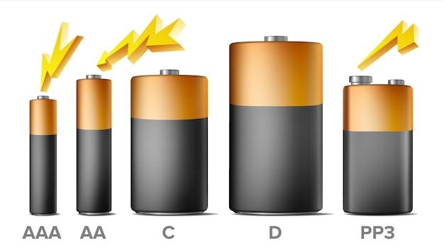 Alkaline batteries Premium Vector