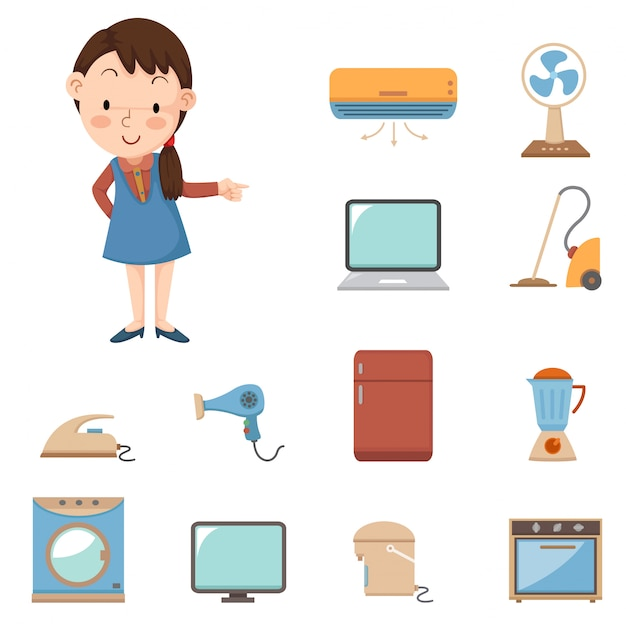 All about electronic devices Premium Vector