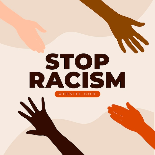 All lives matter stop racism and discrimination Free Vector