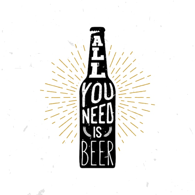 必要なのはクマだけ-ビールをテーマにした引用 Premiumベクター