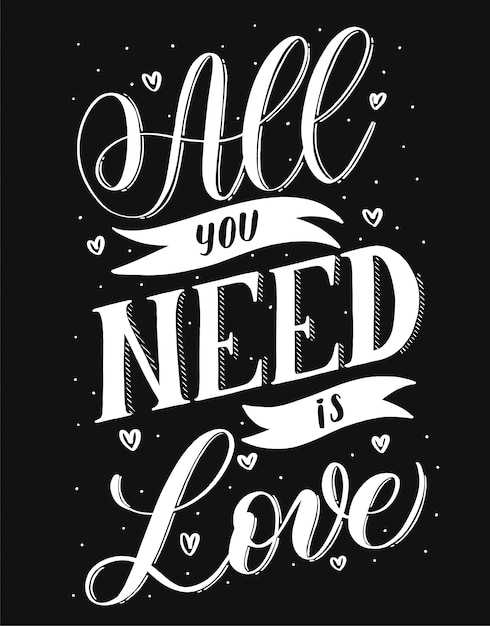 Download All you need is love | Premium Vector