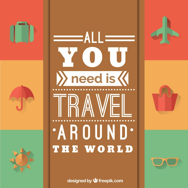 All you need is travel around the world vector free download for All inclusive around the world trip