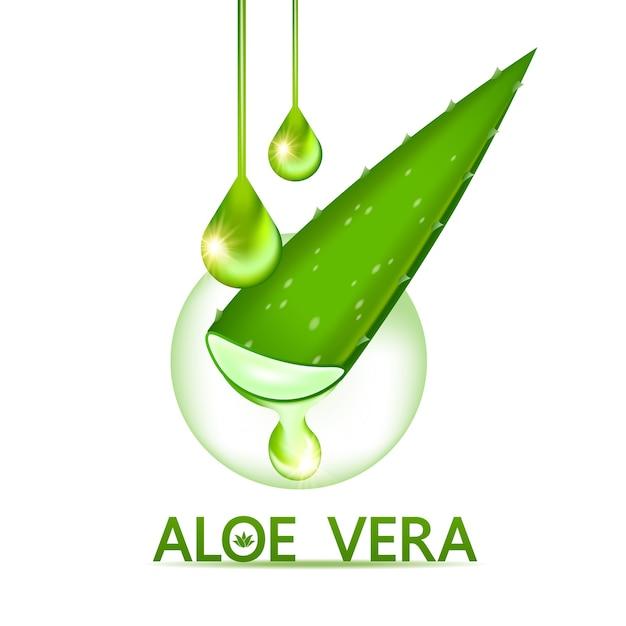 アロエベラコラーゲンとスキンケア化粧品用美容液。 Premiumベクター