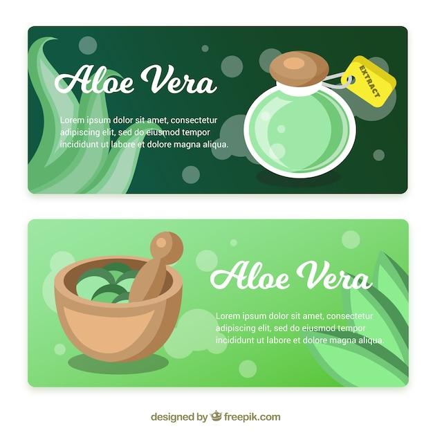 Exceptionnel Download Vector - Aloe vera banner - Vectorpicker DB67