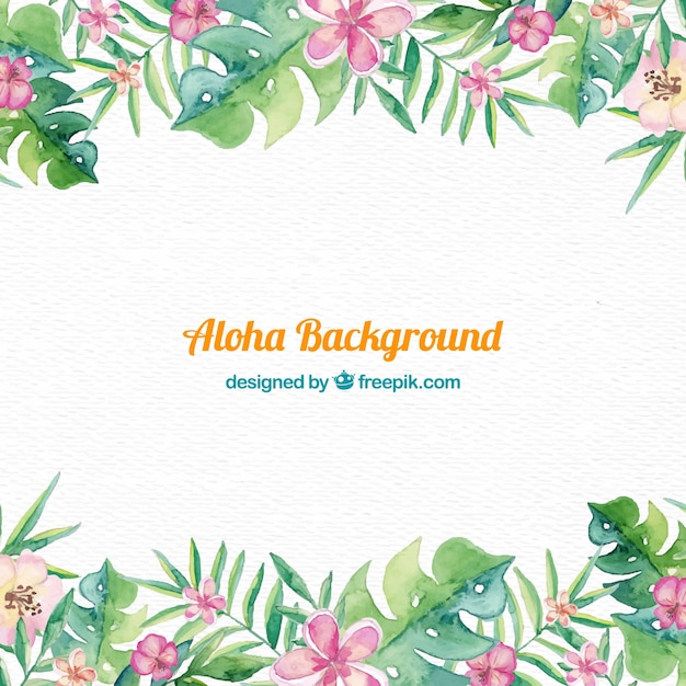 Aloha background design Free Vector