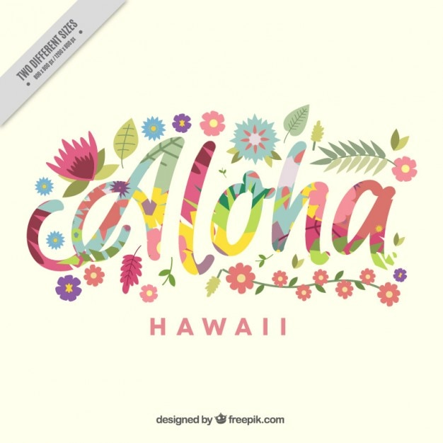 Aloha Background With Colorful Flowers