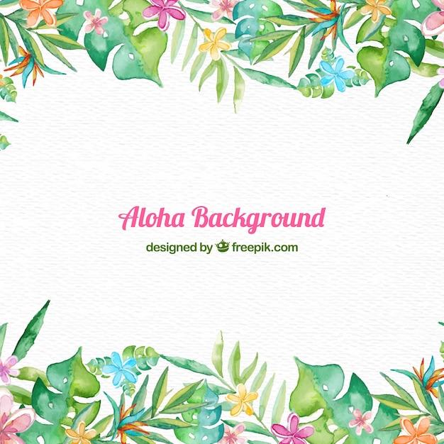 Aloha frame background Free Vector