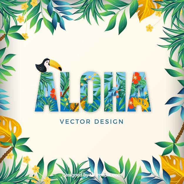 Aloha hawaii летом отдохнуть vector pack Бесплатные векторы