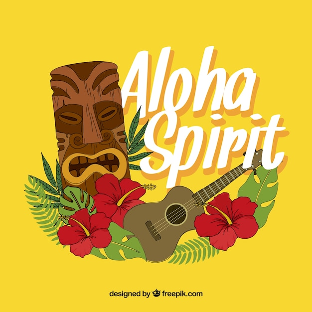 Aloha spirit background Free Vector