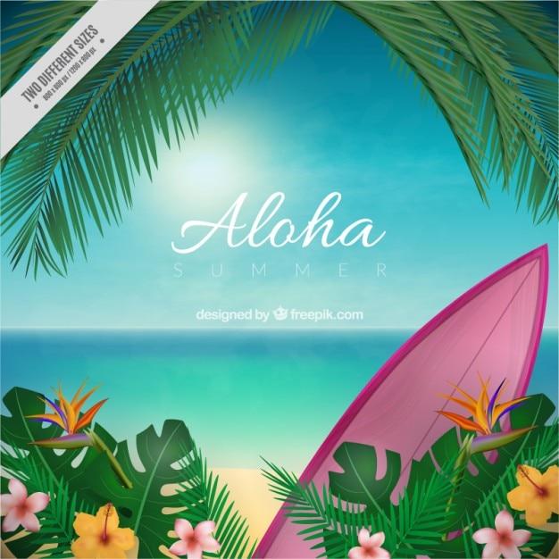 Aloha размытым фоном Бесплатные векторы