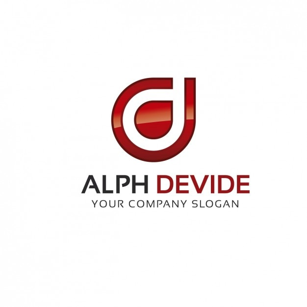 alpha logo template vector free download
