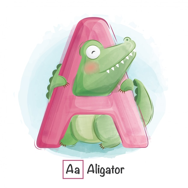Alphabet animal - a Premium Vector