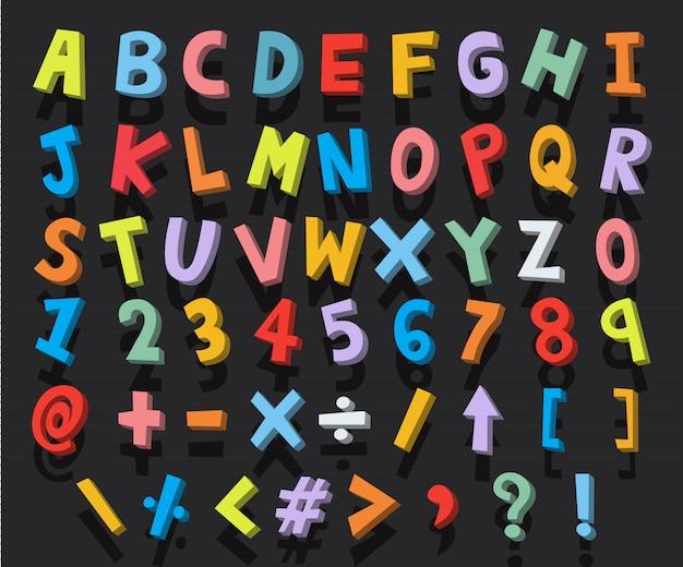 Alphabet cartoon Premium Vector