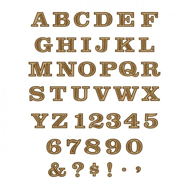 alphabet design free vector