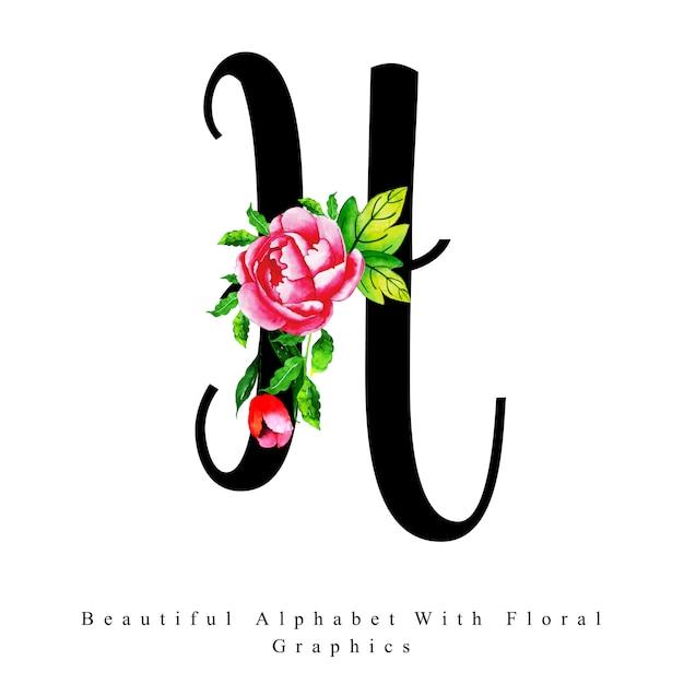 H Letter Images.Alphabet Letter H Watercolor Floral Background Vector Premium Download