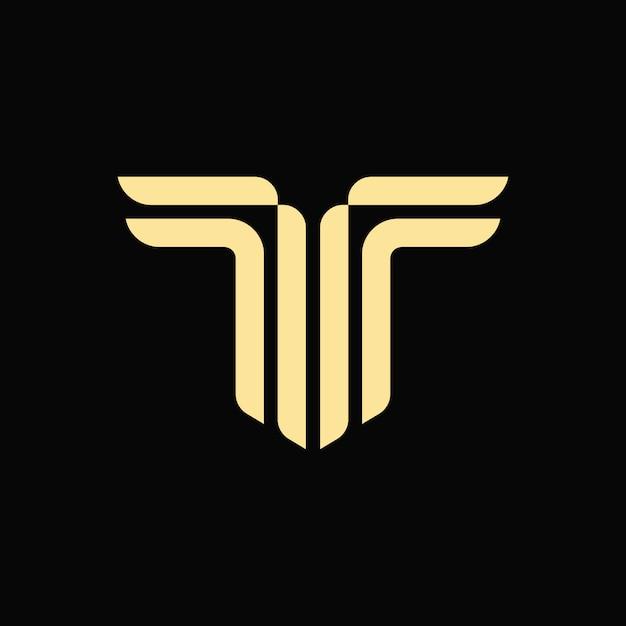 Alphabet letter t monogram logo Premium Vector