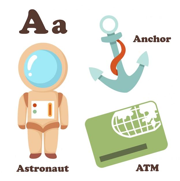 Alphabet a letter Premium Vector