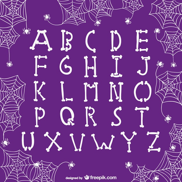 Alphabet letters for halloween Free Vector