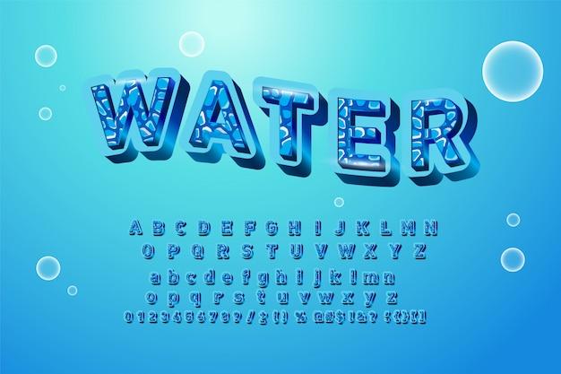 Alphabet logos with watercolor splashes. Premium Vector